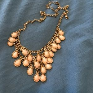 """Blush Pink statement necklace 19"""" from Hollister"""